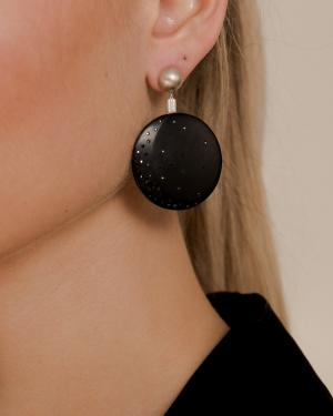 Jacqueline Cullen Whitby Jet Disc Earrings