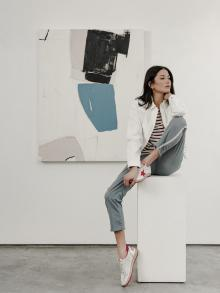 Clothing | NILI LOTAN Shoe | GOLDEN GOOSE  Painting | HOLLY ADDI OLLI FINK